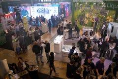 Internationell utställning för VAPEXPO av den elektronisk cigaretten och vap Royaltyfria Bilder