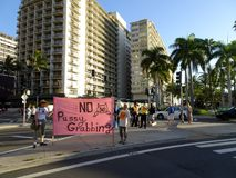 Internationell Women's dag Oahu Fotografering för Bildbyråer