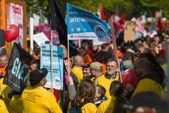 Internationell Workers' Dag 1 Maj 2016, Berlin, Tyskland Royaltyfria Bilder