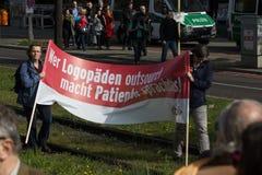 Internationell Workers' Dag 1 Maj 2016, Berlin, Tyskland Arkivbilder