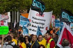 Internationell Workers' Dag 1 Maj 2016, Berlin, Tyskland Arkivbild