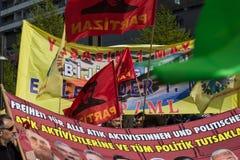 Internationell Workers' Dag 1 Maj 2016, Berlin, Tyskland Royaltyfri Foto