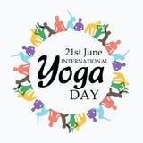 Internationell yogadag Fotografering för Bildbyråer