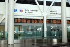 internationella ankomster royaltyfria foton