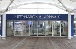 Internationella ankomster Glasgow arkivbilder