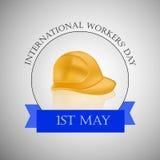 Internationella arbetare dag eller backgroundground för Maj dag royaltyfri illustrationer