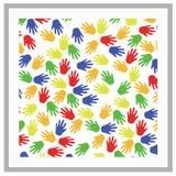Internationella barns dagillustration med färgrik handbakgrund Vektor Illustrationer