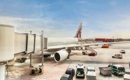 Internationella Frankfurt - f.m. - jordoperation för huvudsaklig Airpor flygplats Fotografering för Bildbyråer