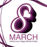 Internationella kvinnors dag vektor illustrationer