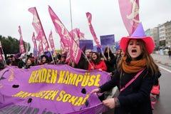 Internationella kvinnors dag Fotografering för Bildbyråer