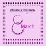Internationella kvinnors minimalist design för dagaffisch Arkivfoto