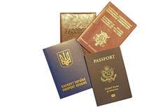 Internationella pass Arkivfoton