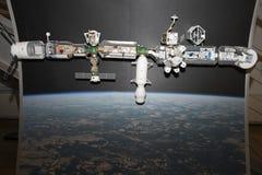 Internationella rymdstationen - ISS - modell Royaltyfria Bilder