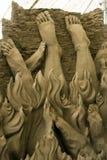 internationella sandskulpturer för 12th festival Arkivfoto