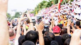 19 11 2017 internationella sjö- internationella hastiga årsdag 2017 för granskningASEAN-` s 50 ståtar i Pattaya, Thailand Arkivbild