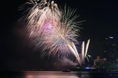 19 11 2017 internationella sjö- internationella hastiga årsdag 2017 för granskningASEAN-` s 50 ståtar i Pattaya, Thailand Arkivfoton