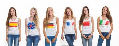 Internationella studenter för språkskola royaltyfria foton