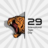 Internationella Tiger Day stock illustrationer