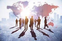 Internationellt affärs- och diskussionsbegrepp royaltyfria foton