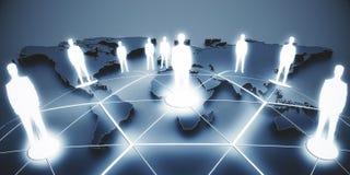 Internationellt affärs- och partnerskapbegrepp fotografering för bildbyråer