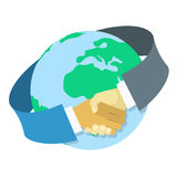 Internationellt affärssamarbete royaltyfri illustrationer