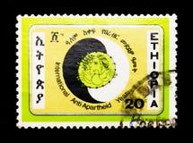 Internationellt Anti--apartheid år serie, circa 1984 Arkivfoto