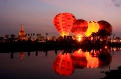 internationellt arbete för ballongfestival Arkivbild
