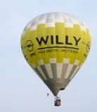 Internationellt baloonistflyg i en händelse Arkivfoto