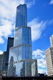 Internationellt hotell för trumf och torn, Chicago Arkivfoton