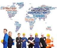 Internationellt lagsamarbete arkivfoto