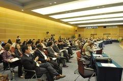 internationellt seminarium Arkivbilder