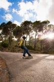 Internatsschülergeschwindigkeitsunschärfegeschwindigkeitsschlittschuhläufer-Magiestunde des Schlittschuhläufers lange Lizenzfreie Stockfotos