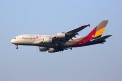 Internazionale di Seoul Incheon dell'aeroplano di Asiana Airlines Airbus A380 Fotografie Stock