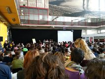 internazionale Ferrara: reportage della foto di occhi degli di apri Fotografie Stock Libere da Diritti