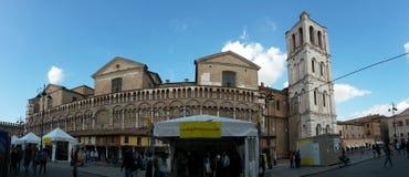 Internazionale festa : piazza trento Trieste in ferrara. Piazza trento Trieste in ferrara Royalty Free Stock Images