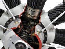 Interne componenten en delen van vliegtuigenmotor stock afbeelding