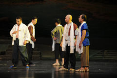 Interne Debatten Jiangxi-Oper eine Laufgewichtswaage Stockfotos
