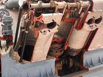 Interne Elemente und Teile des Flugzeugmotors lizenzfreies stockfoto