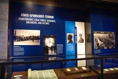 Interne mening van het Holocaust Herdenkingsmuseum, in Washington DC, de V.S. stock fotografie