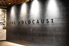 Interne mening van het Holocaust Herdenkingsmuseum, in Washington DC, de V.S. royalty-vrije stock foto