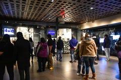 Interne mening van het Holocaust Herdenkingsmuseum, in Washington DC, de V.S. royalty-vrije stock foto's
