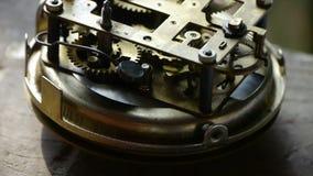 Interne structuur van Horloge, lagers, toestellen stock footage