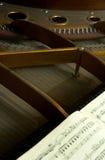 Interne Teile eines großartigen Klaviers Lizenzfreie Stockfotos