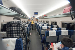 Interne trein CRH 380 Stock Foto's