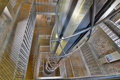 Interner Aufzug alten Rathaus-Turms prag Tschechische Republik Lizenzfreie Stockfotografie