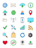 Interner icons set. Set of 24 Internet icons Royalty Free Stock Image