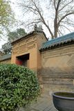 Internes Tor in der großen Moschee Xian-huajue Wegs, luftgetrockneter Ziegelstein rgb Stockfotografie