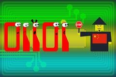 Internetåtkomst i Kina Arkivfoton