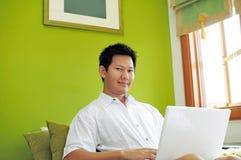internetów mężczyzna surfing zdjęcie royalty free
