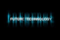 Internet. Composition design on black background and slogan Future Technology vector illustration